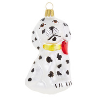 "4"" Dalmatian Ornament, Black/White"