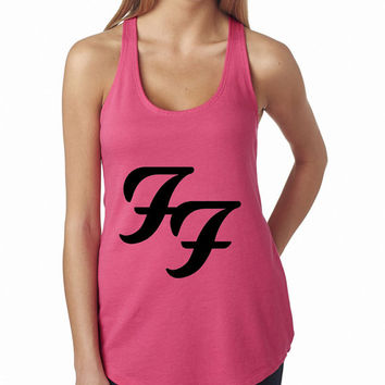 Foo Fighters Logo Pink Rock Band Tank Top, Lady Women Fit Tee, Sweater Hoodie Tshirt Tank Top