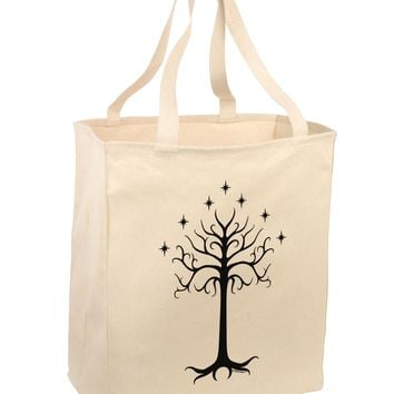 The Royal White Tree Large Grocery Tote Bag by TooLoud