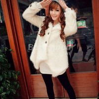 New Arrival Irregular Women's Prevailing Fluffy Long Sleeve Fur Coat Free Shipping!  - US$21.99