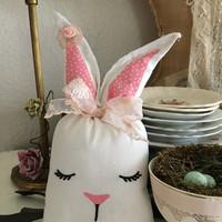 Easter rabbit shelf sitter/ Easter decor/ easter rabbits