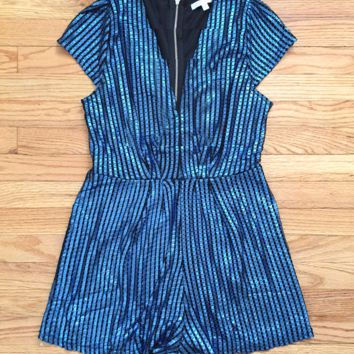 Blue Yuletide Party Romper