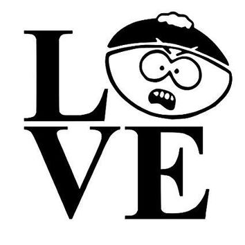 Love Cartman South Park Vinyl Car/Laptop/Window/Wall Decal