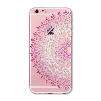 Pink & white lace design Phone Case for iPhone 7 6 6s
