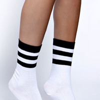 Victoria Striped Ankle Socks