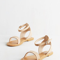 Lighthearted on Your Feet Sandal in Beige by ModCloth