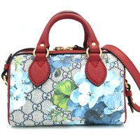 GUCCI GG Blooms Supreme 2way shoulder Hand bag 432123 coated canvas Multicolor