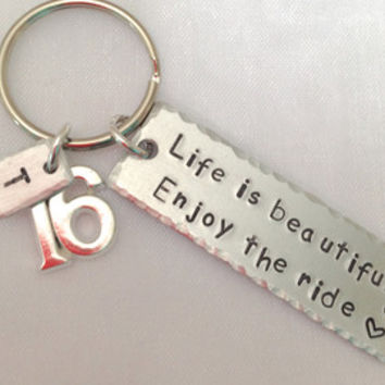 16th birthday gift | 16th present | 16th keyring | Gift for 16th | sweet sixteen | 16th birthday card | Personalised 16th gift | Custom gift