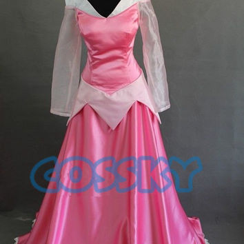 Disney The Sleeping Beauty Ballet Aurora Princess Dress Made Cosplay Costume