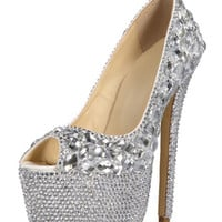 evening shoes, bridal shoes, bridesmaid shoes, wedding shoes, prom shoes, glitter pumps, sparkly high heels | Milanoo.com
