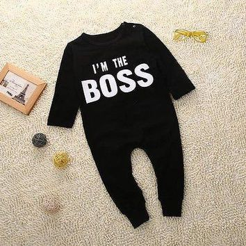 Unisex baby clothes Spring winter baby Rompers long sleeve boss jumpsuit newborn snowsuit Baby Boy Rompers costumes for girls