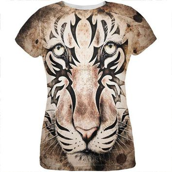 LMFCY8 Tiger Eye Ghost And The Darkness All Over Womens T Shirt