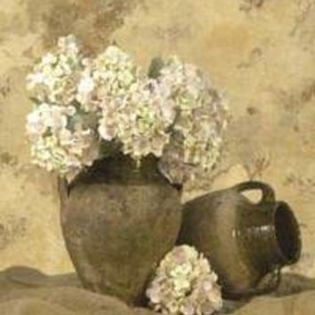Vases With White Hydrangeas I