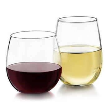 Libbey Stemless 12-piece Wine Glass Set