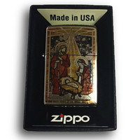 Zippo Custom Lighter - Holy Family in Fuzion - High Polish Chrome 250-ZF400121