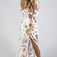 gentle fawn: mystery maxi dress - autumn floral