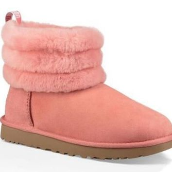 UGG Australia Women 2019 New Trending Wool Snow Winter Purple Boots LNT-05