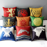 decorative cushion decorative pillows woven cusion almofadas emoji for home sofa decor Game of Thrones printed
