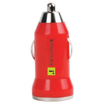 Iessentials Iphone And Ipod And Smartphone 1-amp Usb Car Charger (red)