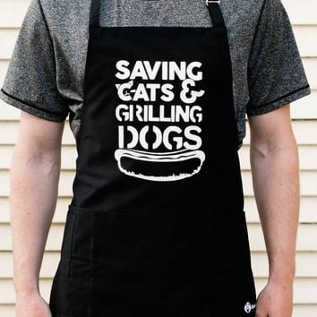 Saving Cats & Grilling Dogs Apron