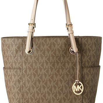 Michael Kors Women's Jet Set Signature Bag Top-Handle Bag Tote