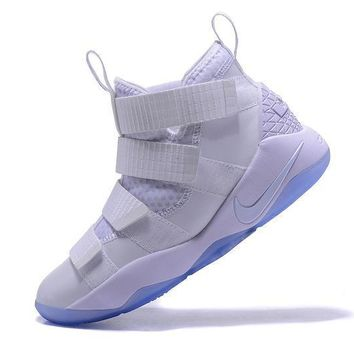 Nike LeBron Soldier 11 White Men Basketball Sneakers Sports Shoes