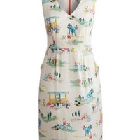 Creme Cafe Print Adrienne Womens Patterned Dress | Joules UK