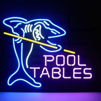 Pool Tables Shark Neon Sign Real Neon Light