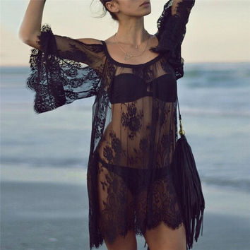 Beach Cover up Lace Swimwear Dress