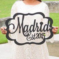 Huge Name Art Sign - 3 Trendy Options!