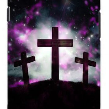 Three Crosses trinity Outer Space Galactic Unique Quality Soft Rubber TPU Case for Samsung Galaxy S3 SIII i9300 - White Case