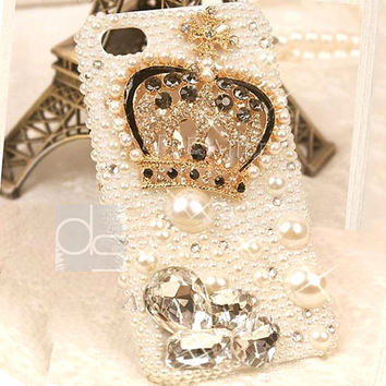 iPhone 3 Case iPhone 3GS Case iPhone 4 Case Bling iPhone 4S Case for iPhone 5 Case iPhone 5S Case iPhone 5C Case iPhone 3G Case Pearl Crown