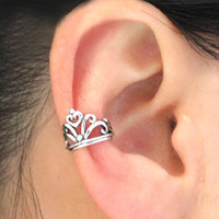 vintage crown ear clip