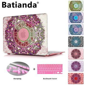 Crystal Case For Apple Macbook Air 13.3 11 Pro 13 12 15 Retina Laptop Print Cover 2016 2017 New Touch Bar Model + Keyboard Cover