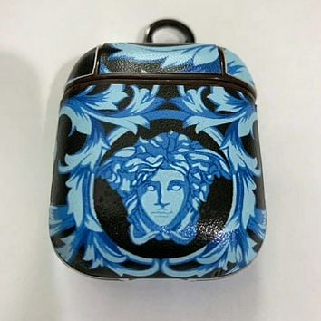 VERSACE Newest Popular AirPods Bluetooth Wireless Headset Cover Slip Storage Cover (No Headphones)