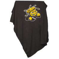 Logo Chair Wichita State Shockers Ncaa Sweatshirt Blanket Throw