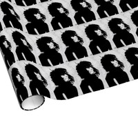 Siouxsie Sioux Original Art Goth Wrapping Paper