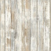 RoomMates RMK9050WP Distressed Wood Peel and Stick Wallpaper Décor