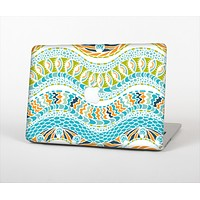 The Vector Teal & Green Snake Aztec Pattern Skin Set for the Apple MacBook Air 11""