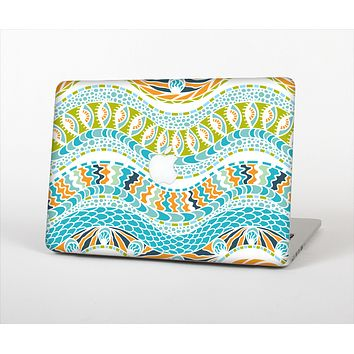 "The Vector Teal & Green Snake Aztec Pattern Skin Set for the Apple MacBook Pro 13"" with Retina Display"