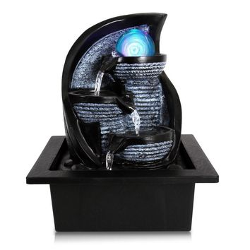 SereneLife Desktop Electric Water Fountain Decor w/ LED Illuminated Crystal Ball Accent