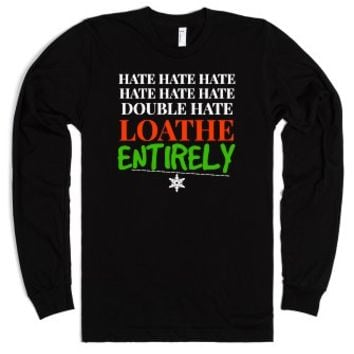 Hate Hate Double Hate Loathe Entirely Christmas Tee-Black T-Shirt