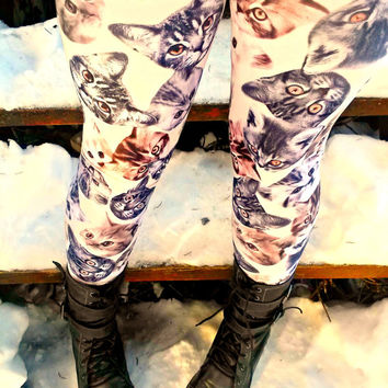 kitty Cat Leggings pants lycra your size