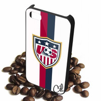 us soccer white jersey iPhone Case And Samsung Galaxy Case