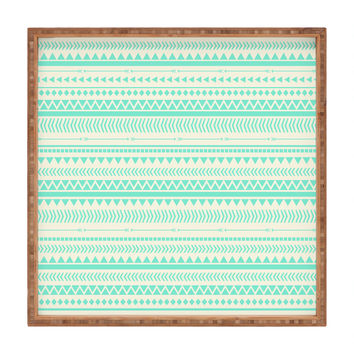 Allyson Johnson Mint Tribal Square Tray