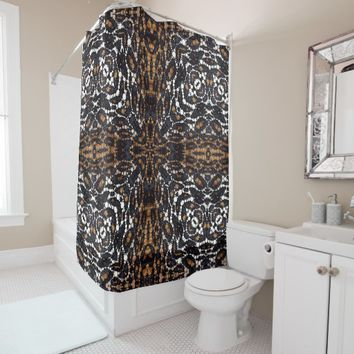 Printed Tiger Bling Shower Curtain