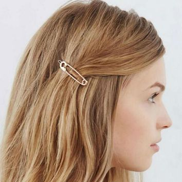 Delicate and playful Affordable Promotion Big silver pin simple metal Nice gifts Hair Accessories Hairpin