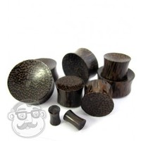 Concave Palm Wood Plugs (4G - 25mm) Sold In Pairs | UrbanBodyJewelry.com