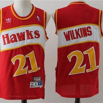 PEAP Atlanta Hawks 21 Dominique Wilkins Retro Basketball Swingman Jersey