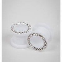 White Tunnel with Clear Cubic Zirconia Set